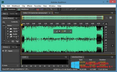 Screenshot Adobe Audition CC Windows 8.1
