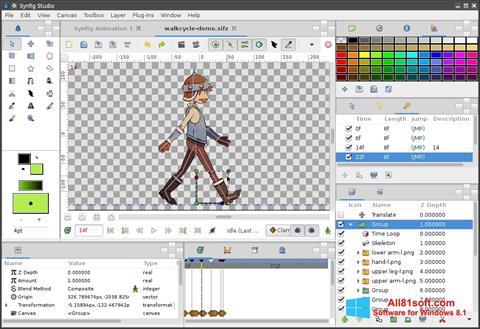 Screenshot Synfig Studio Windows 8.1