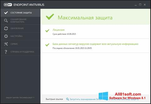 Screenshot ESET Endpoint Antivirus Windows 8.1