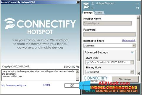 Screenshot Connectify Windows 8.1