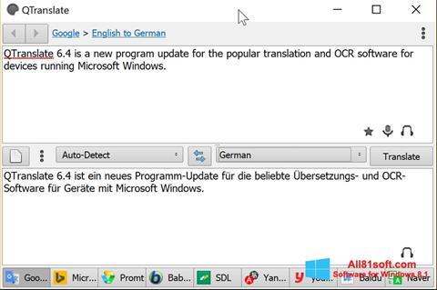 Screenshot QTranslate Windows 8.1