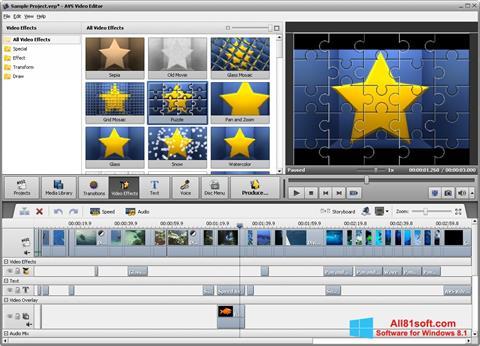 Screenshot AVS Video Editor Windows 8.1
