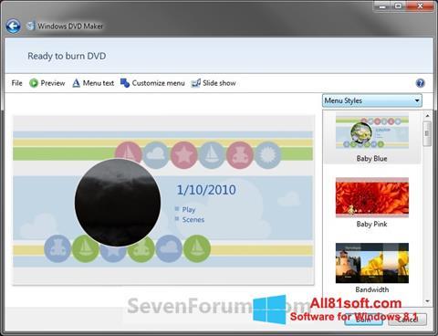 Screenshot DVD Maker Windows 8.1