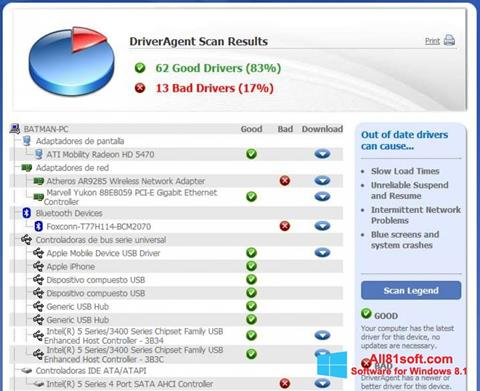 Screenshot DriverAgent Windows 8.1