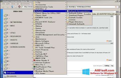 Screenshot AviSynth Windows 8.1
