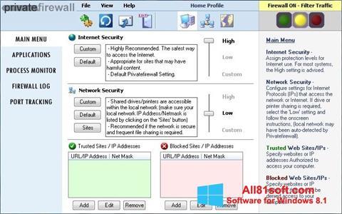 Screenshot Privatefirewall Windows 8.1