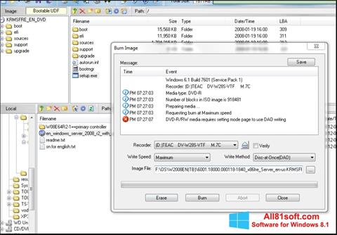 Screenshot UltraISO Windows 8.1
