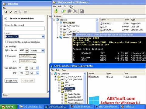 Screenshot ERD Commander Windows 8.1