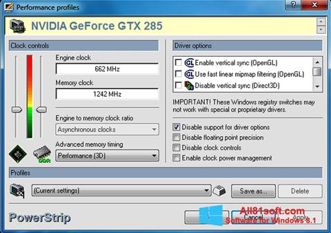 Screenshot PowerStrip Windows 8.1