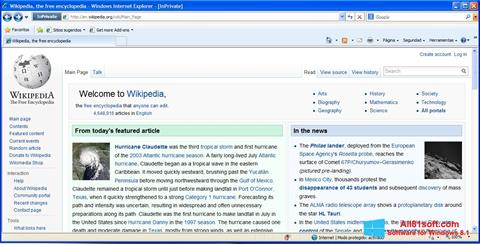 Screenshot Internet Explorer Windows 8.1