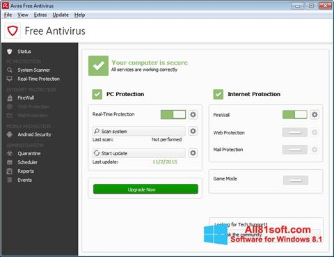 Screenshot Avira Free Antivirus Windows 8.1