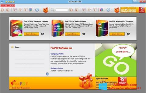 Screenshot Doc Reader Windows 8.1