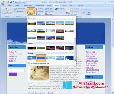 Screenshot Artisteer Windows 8.1