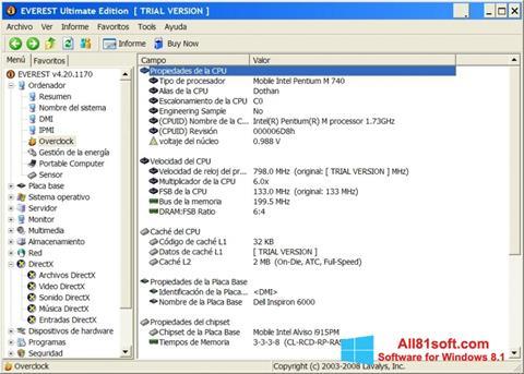 Screenshot EVEREST Ultimate Edition Windows 8.1