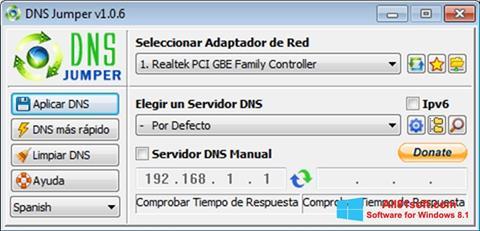 Screenshot DNS Jumper Windows 8.1