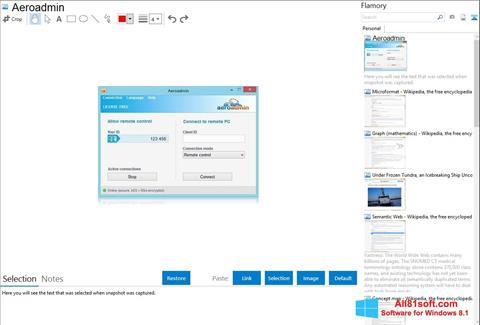Screenshot AeroAdmin Windows 8.1