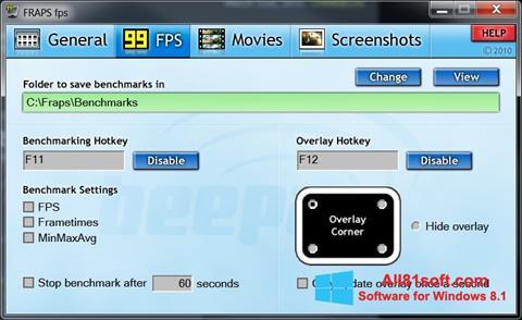 Screenshot Fraps Windows 8.1