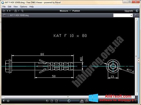 Screenshot DWG Viewer Windows 8.1