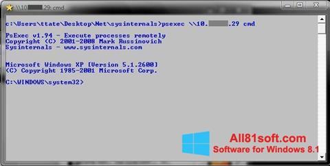 Screenshot PsExec Windows 8.1