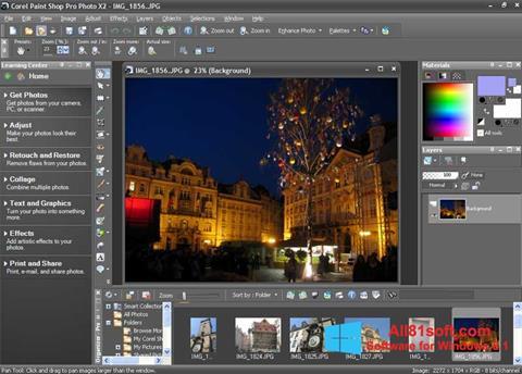 Screenshot PaintShop Pro Windows 8.1