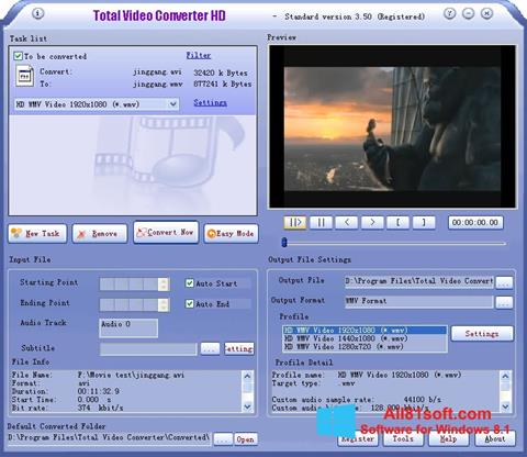 Screenshot Total Video Converter Windows 8.1