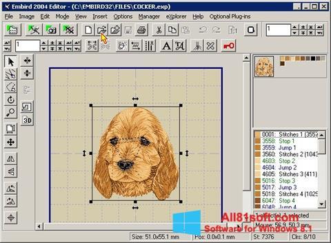 Screenshot Embird Windows 8.1