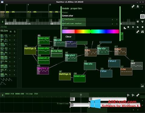 Screenshot SunVox Windows 8.1
