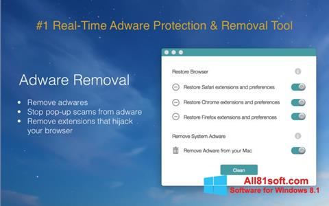 Screenshot Adware Removal Tool Windows 8.1