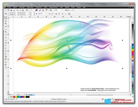Screenshot CorelDRAW Windows 8.1
