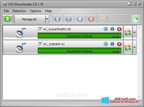 Screenshot VSO Downloader Windows 8.1