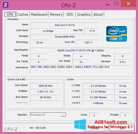 Screenshot CPU-Z Windows 8.1
