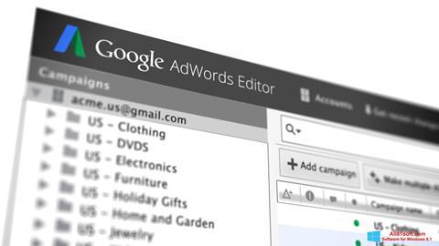 Screenshot AdWords Editor Windows 8.1