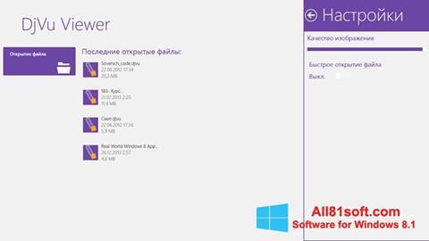Screenshot DjVu Viewer Windows 8.1