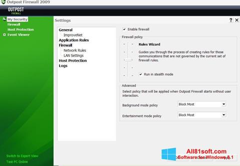 Screenshot Outpost Firewall Free Windows 8.1