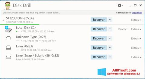 Screenshot Disk Drill Windows 8.1