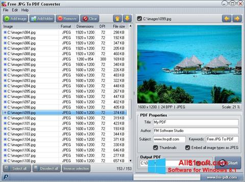 Screenshot JPG to PDF Converter Windows 8.1