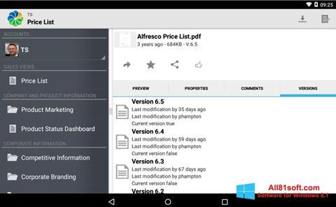 Screenshot Alfresco Windows 8.1