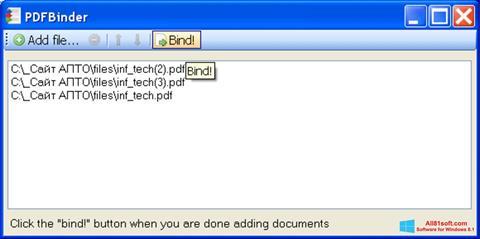 Screenshot PDFBinder Windows 8.1