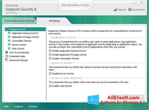 Screenshot Kaspersky Endpoint Security Windows 8.1