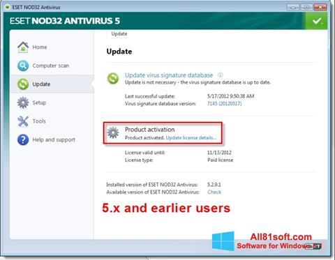 Screenshot ESET NOD32 Windows 8.1