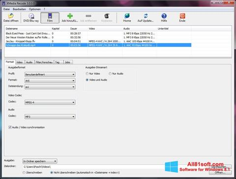 Screenshot XMedia Recode Windows 8.1