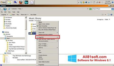 Screenshot MagicISO Windows 8.1