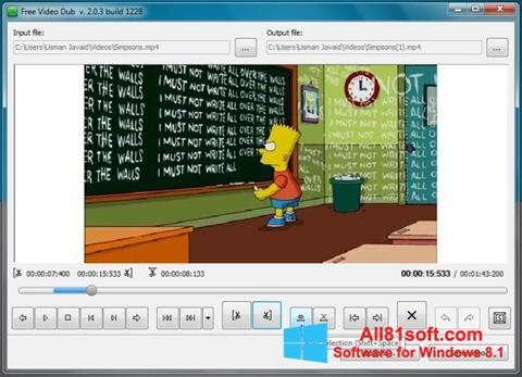 Screenshot Free Video Dub Windows 8.1