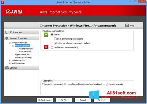 Screenshot Avira Internet Security Windows 8.1