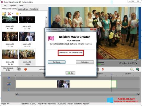 Screenshot Bolide Movie Creator Windows 8.1