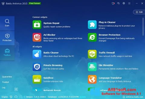 Screenshot Baidu Antivirus Windows 8.1