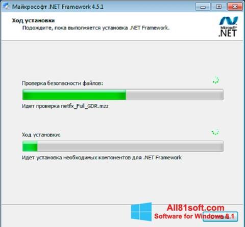 Screenshot Microsoft .NET Framework Windows 8.1