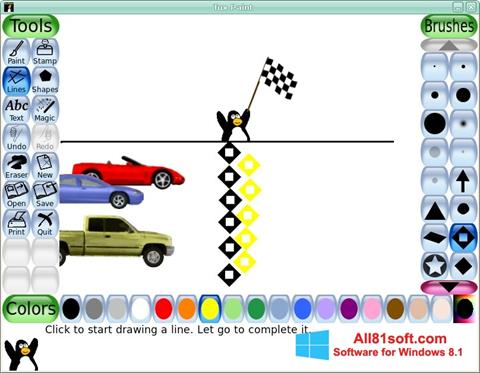 Screenshot Tux Paint Windows 8.1