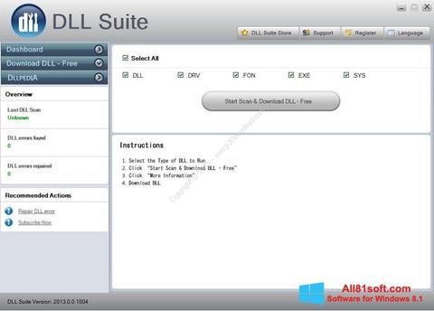 Screenshot DLL Suite Windows 8.1