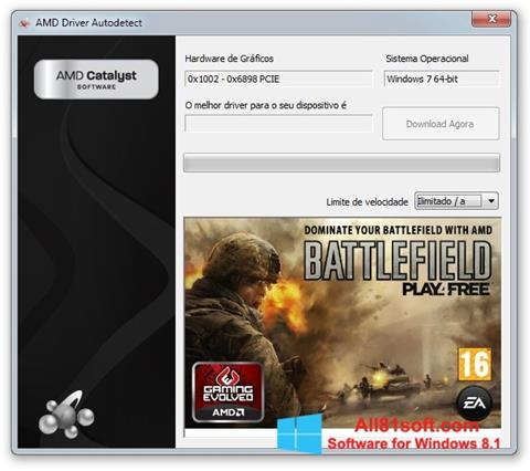 Screenshot AMD Driver Autodetect Windows 8.1